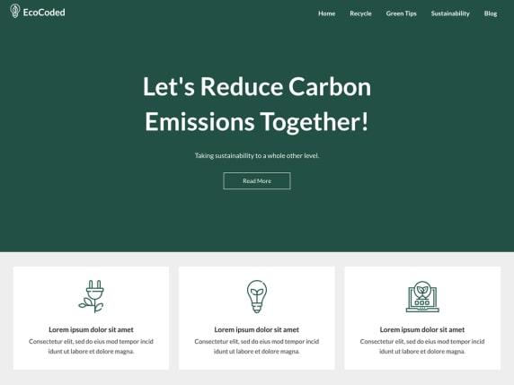 EcoCoded- free ads optimized WordPress theme