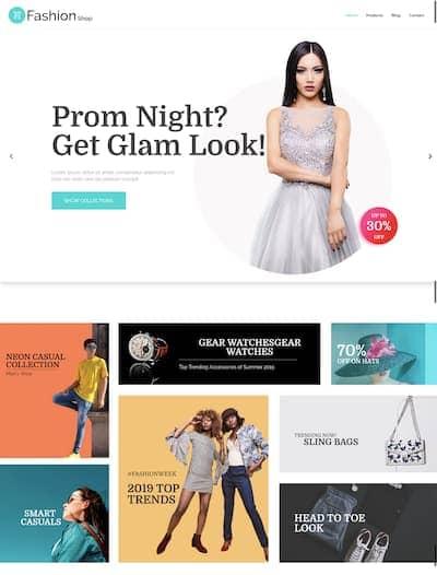 WordPress fashion shop theme
