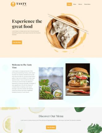 WordPress food theme