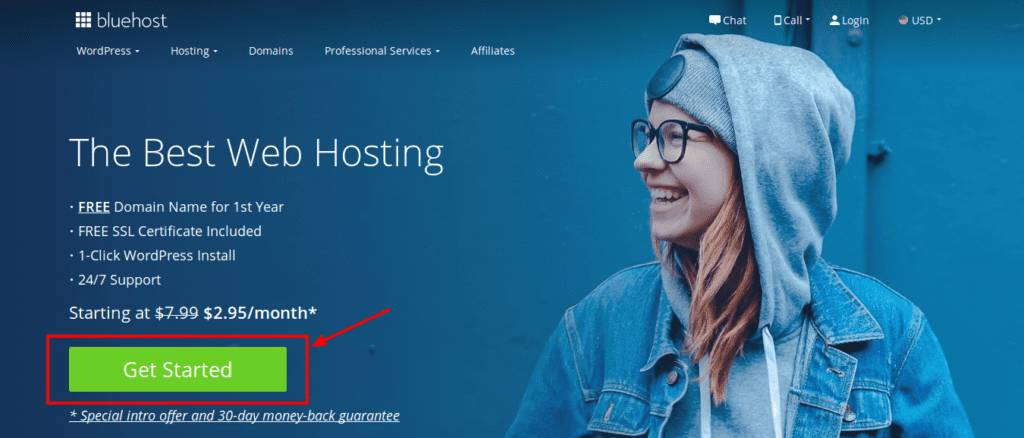 Bluehost- The best web hosting
