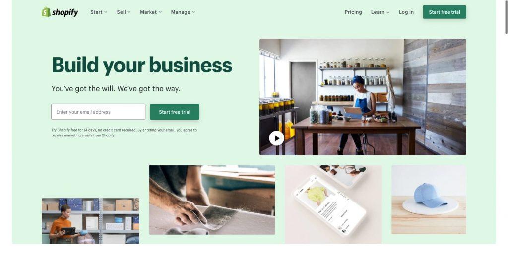 Shopify- eCommerce website builder