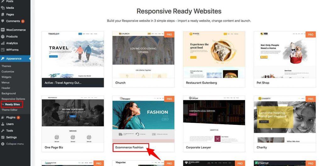 Responsive ready site importer plugin- Import Elementor & Gutenberg templates