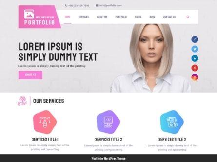 Multipurpose Portfolio- WordPress Multipurpose theme